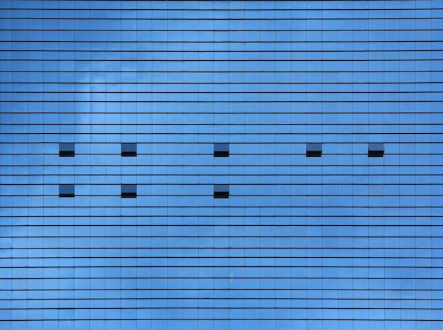 事務所ビルの外観の窓ガラスパターン