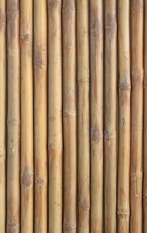 垂直竹フェンス壁の背景。