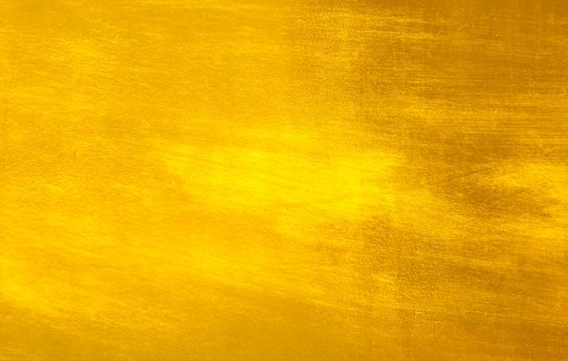 Блестящий желтый лист золотой фольги