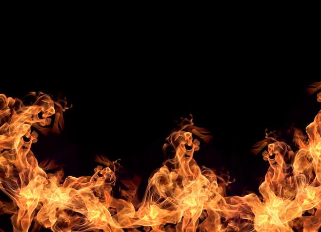 Фон огненных пламен