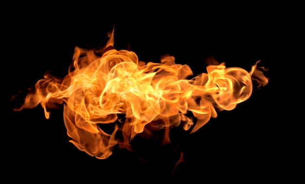 炎熱火の抽象的な背景黒の背景