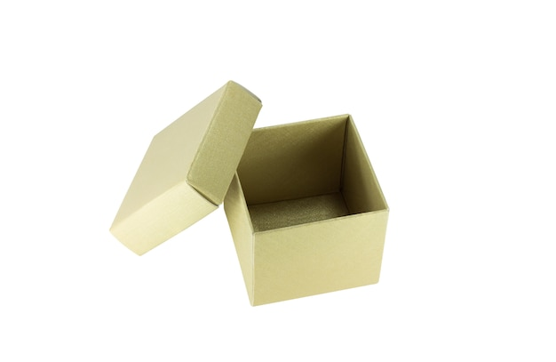 紙箱を開く