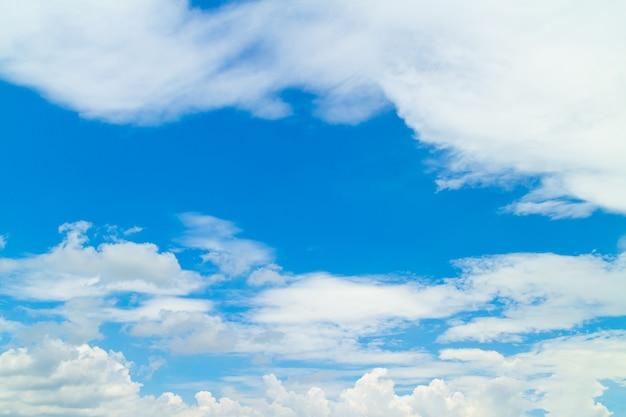 天気の良い日の青い空と雲