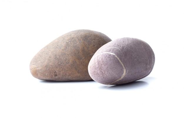 小石石、分離された石の山、海の小石
