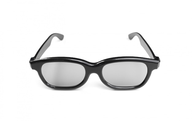 分離されたシンプルなデザインのメガネ