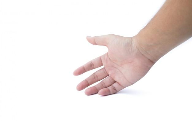 分離された開いた手