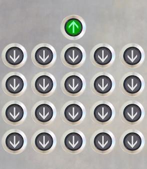 Кнопка лифта разное направление