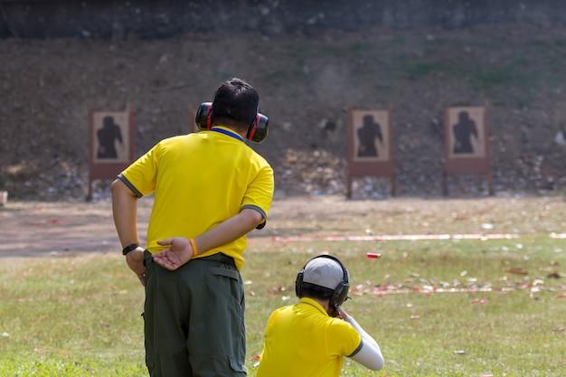 Пистолет-стрельба для стрельбы на открытом воздухе, селективный фокус