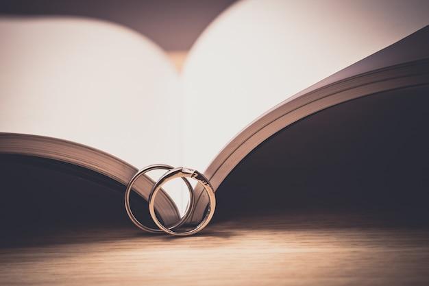 Обручальные кольца с любовной книгой