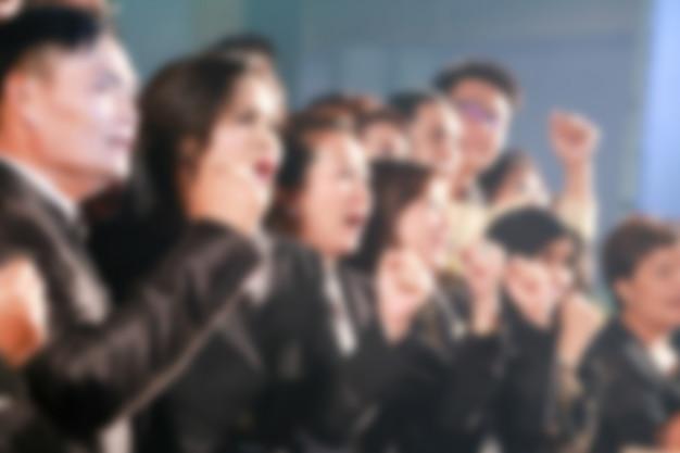 授賞式のテーマクリエイティブのデフォーカス。事業コンセプトの背景