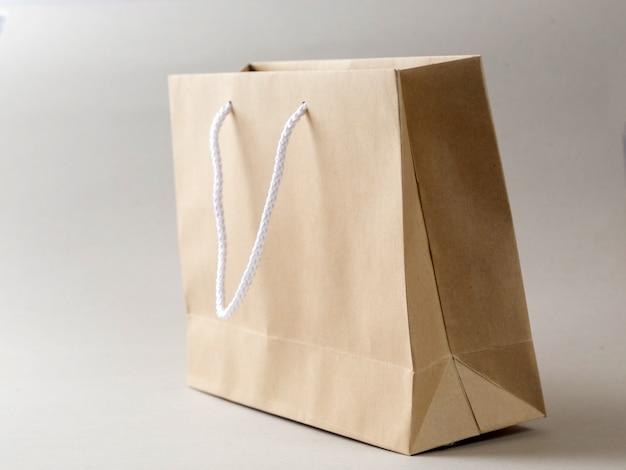 Коричневая сумка для покупок