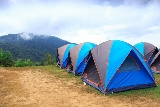 Купол палатка в национальном парке