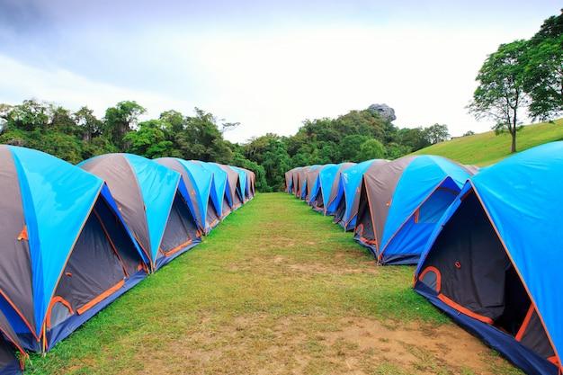 国立公園でのドームテントキャンプ