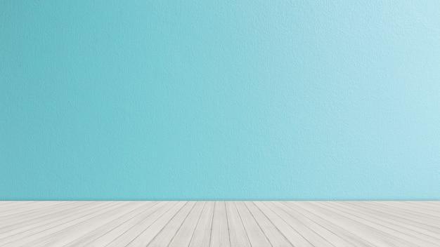 明るい青いレンガ壁の背景を持つテーブルトップ