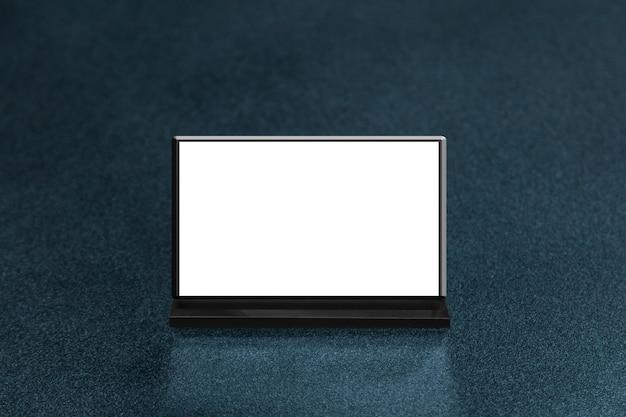 Макет пустой кадр меню на столе в ресторане