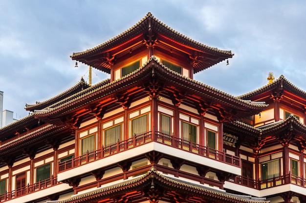 赤い中国の寺院 - 仏教歯の遺跡寺院と博物館シンガポール