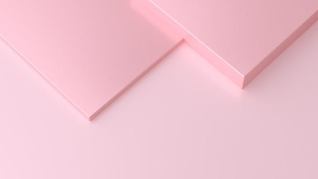 正方形のピンクの背景を重ねる