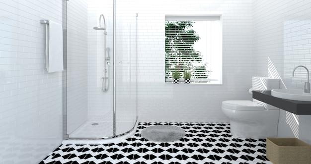 バスルームトイレインテリア、豪華、シャワー