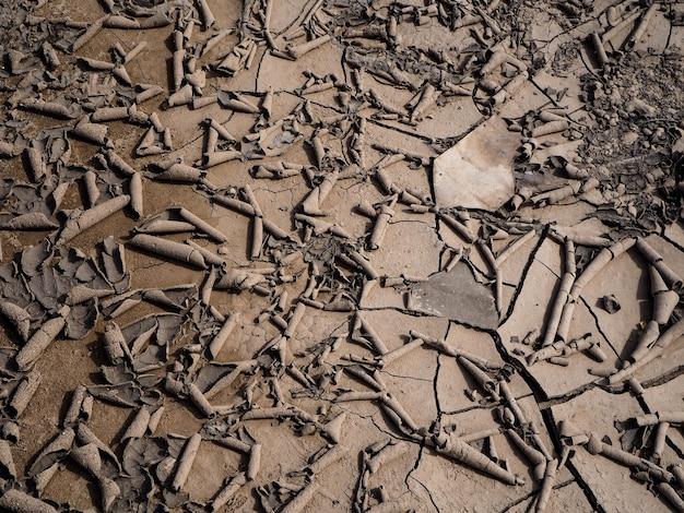 乾いた地面は干ばつの概念を示しました。