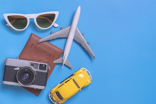 Аксессуары для летних путешествий с паспортом камеры и проездом на автомобиле