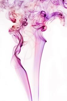 青と白の煙