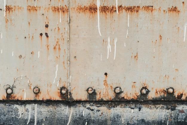 抽象的な背景鋼板、サビ、列車の壁の古いと錆