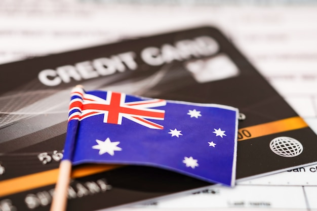 クレジットカードのオーストラリアの旗