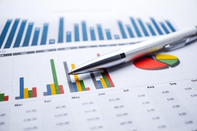 グラフグラフ用紙。財務、勘定、統計、分析研究データ経済、ビジネス