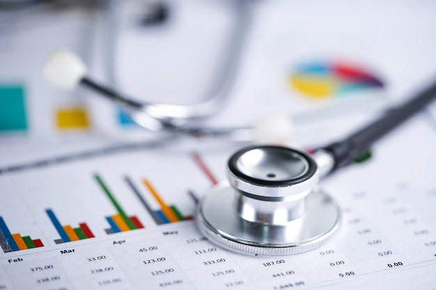 聴診器、チャートとグラフのスプレッドシート