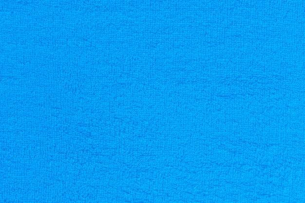 Синяя поверхность ткани полотенца