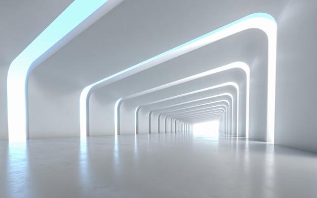 照らされた廊下のインテリアデザイン