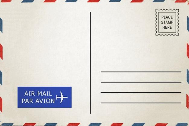 空の航空便の封筒