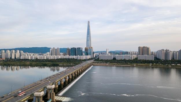 Вид с воздуха на город сеул