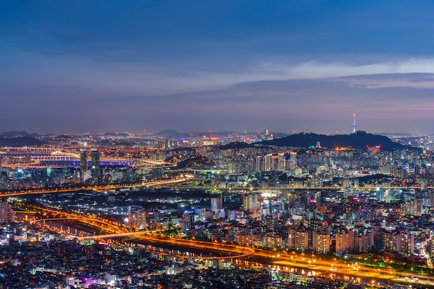 Сеул город небоскребов