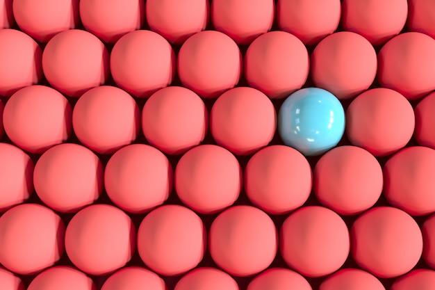 赤い電球の中でも傑出した青い電球