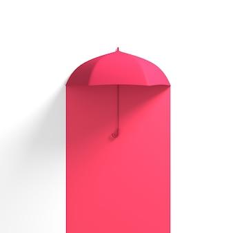赤い半白い色に浮かぶ赤い傘