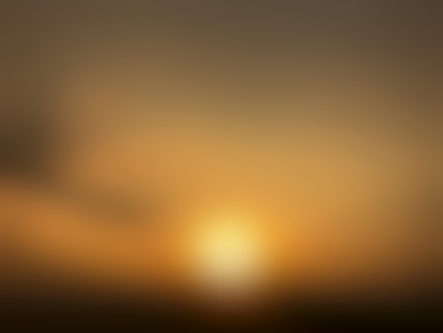 抽象的なぼかし夕日を背景。