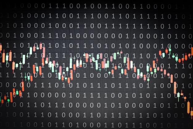 Интернет-концепция бизнес-экрана с черным фоном
