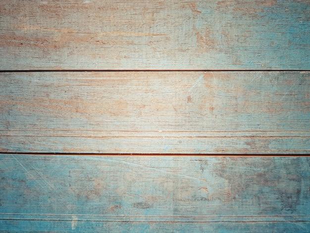 Полная рамка старинной голубой деревянной доски для фона и текстуры поверхности.
