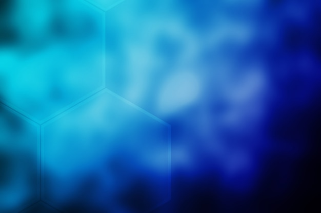 Абстрактный размытый фон текстуры шестиугольника темно-синий градиент