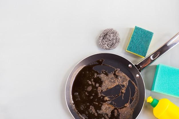 フライパン洗浄用スポンジとスチールウール