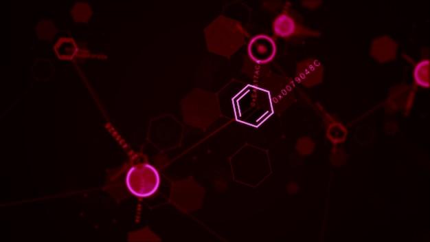Абстрактный футуристический шестиугольник