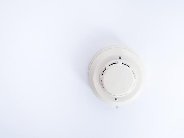 天井に取り付けられた煙探知器