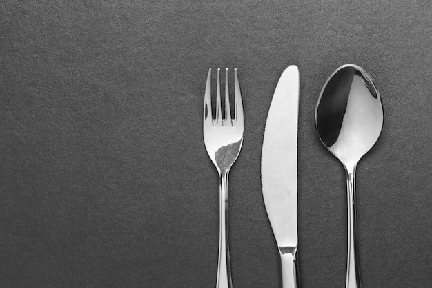 Нож, вилка и ложка