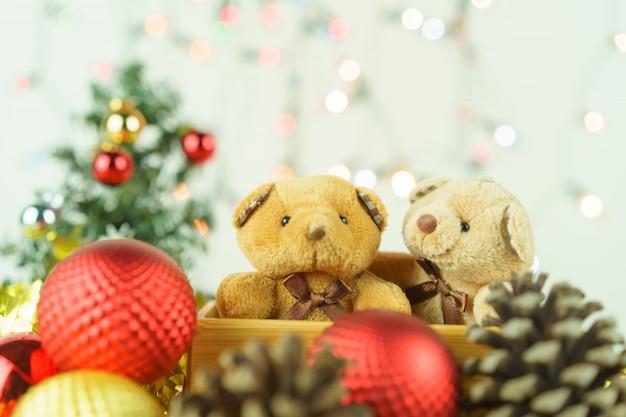 クリスマスの背景。クリスマスの休日の祝賀コンセプト。装飾クリスマスツリー。