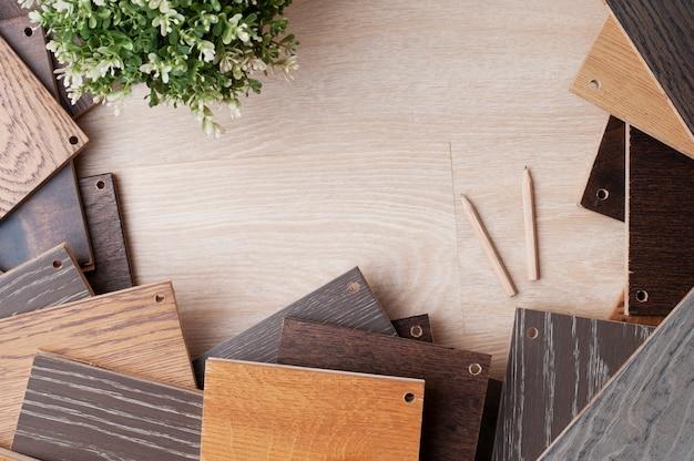 Образец древесных материалов для дизайна интерьера с завода