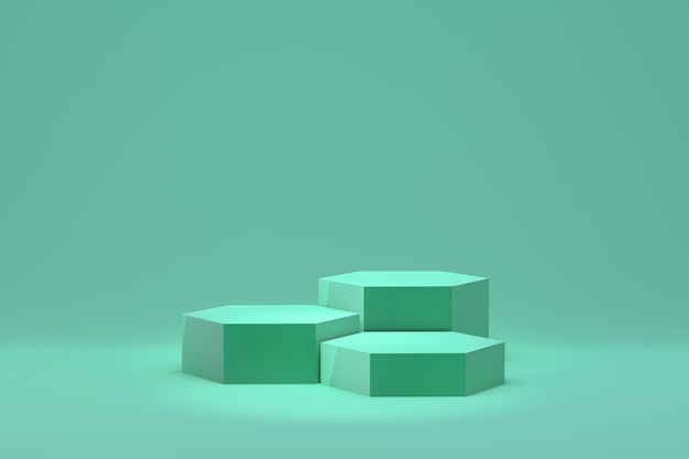 Зеленый подиум минимальный абстрактный фон для презентации косметической продукции