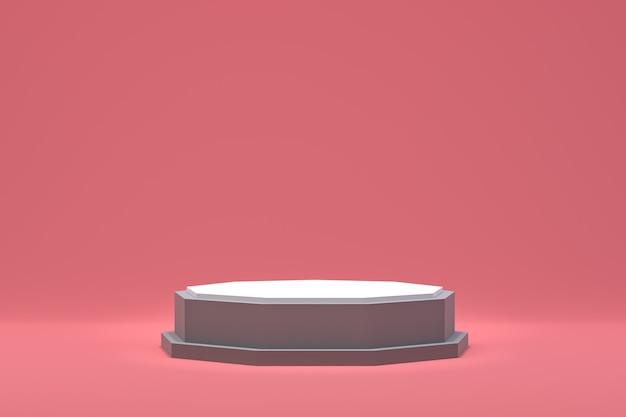 化粧品のプレゼンテーションのための表彰台最小限の抽象的な背景