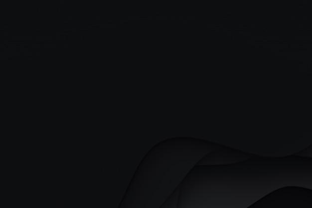 抽象的な黒い紙カットアート背景デザインのウェブサイトテンプレートまたはプレゼンテーションテンプレート、黒い背景