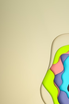 ポスターテンプレート、カラフルな背景、パターンの抽象的な背景の抽象的なカラフルな紙カットアート背景デザイン